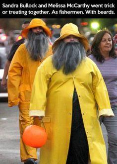 Sandra Bullock and Melissa McCarthy's Halloween costumes.