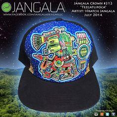 Aztec god Tezcatlipoca painted cap on Etsy, $250.00