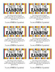 Taste of the rainbow personal progress blitz