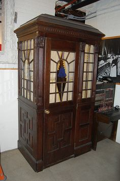 Antique wood phone booth
