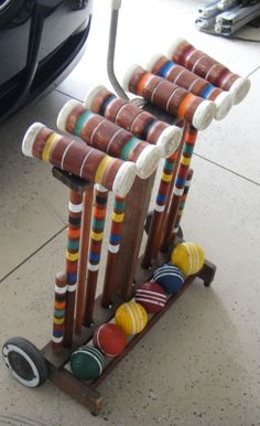 Croquet Set!  This looks like the exact one we had as kids.