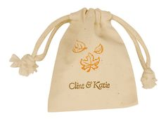 Personalized Muslin Fall Favor Bags