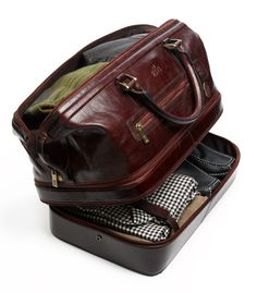 Leather travellers bag for men. #style #bagsformen