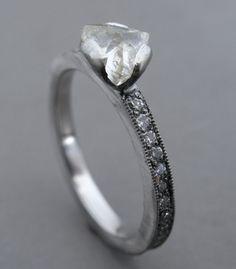 Todd Pownell raw diamond ring.