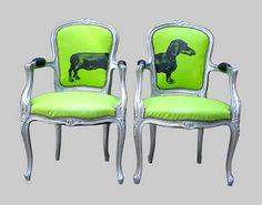 Weiner dog chairs #want