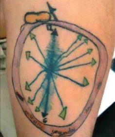 clock tattoo fail