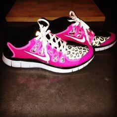 workout shoes, nike shoes, closet, leopard prints