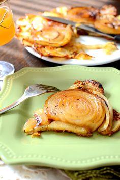 Upside-Down Onion and Potato Tart.