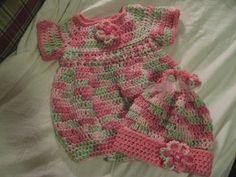 Crochet Newborn Romper, http://crochetjewel.com/?p=10645