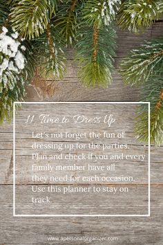 Dress up for the holidays! Get the planner and ideas on what to wear.  31 Days of Holiday Organizing Tips — Day 11 | http://www.apersonalorganizer.com/31-days-holiday-organizing-tips-day-11/