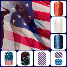 fourth of july jamberry nails