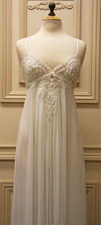 pretty white nightgown.