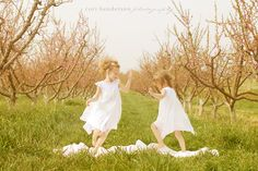 sister, little girls, children danc, famili, danc children, inspir, orchard, pictur idea, children photographi