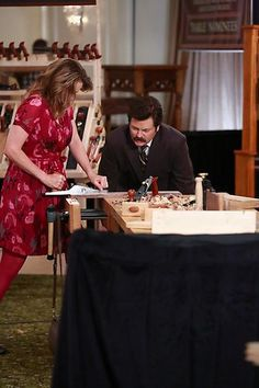 """""""Ron and Diane"""" / Parks and Recreation / #ParksandRec"""
