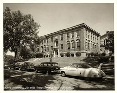 Ohio University's Carnegie Hall, looking northwest from Park Place, 1950s | Flickr  :: Ohio University Archives