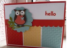 Hello Card with Owl Builder punch by Stampin' Up!