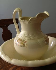 Pitcher and Basin Set:)
