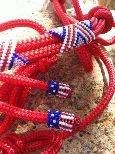 IN STOCK- Beaded Rope Halter, Horse Tack , Horse Halter, Custom Tack, hand beaded halter on Etsy, $69.00