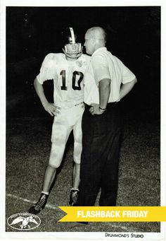 In the spirit of football season, here is a  photo of Phil with his football coach.