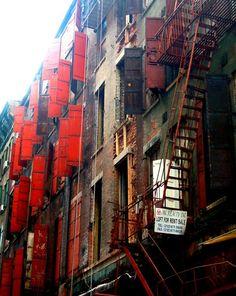Chinatown red shutters  NYC  monicalshulman.com