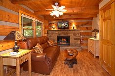 Mi Cabana is a cabin rental in Pigeon Forge, TN. Perfect for a couple looking for alone time, this cabin's desirable location in the woods makes for a very relaxing setting. Featuring a screened in deck with a spacious hot tub, BBQ grill, and queen size bed.