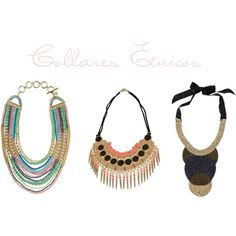 Collares etnicos, created by smilinglook on Polyvore