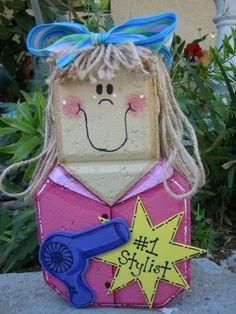 Hairdresser Stylist Patio Person Garden by SunburstOutdoorDecor, $22.00