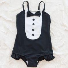 mini rodini tuxedo swimsuit. This is too cute!