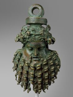 Handle attachment in the form of a mask, 1st century B.C–1st century A.D.