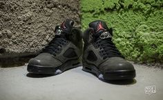 "Take a look at our Nike Air Jordan 5 ""Fear"" Detailed Images."