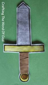 Theme 1: God's Word- the Bible craft: God's Word is the Sword Of The Spirit