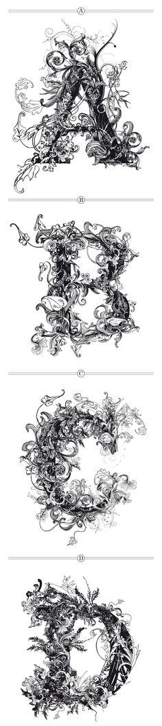 Brushwood Alphabet by Riccardo Sabatini #typography #graphic_design
