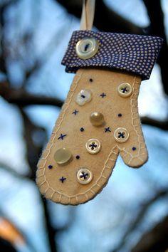 cute mitten ornament