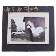 Wooden Personalized Mr. & Mrs. Frame,  $64.95 | The Catholic Company