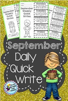 $ Daily quick writes - use one sheet for the entire week. Fun prompts! The bundle is currently on the TPT top 100. My firsties love them! $