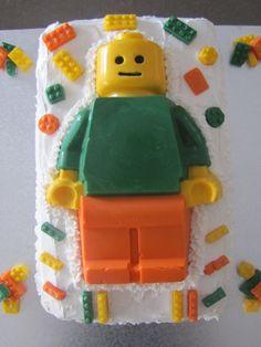 Lego man cake for my birthday boy!