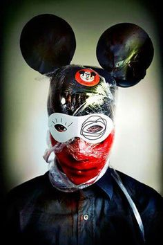Mickey Mouse mind control pic, evocating torture and, of course, one eye.