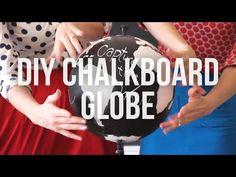VIDEO // DIY Chalkboard Globe