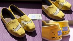 DIY custom TOMS~    Moustache Painted Toms by Apple Green Amy, via Flickr