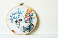 hand embroid, free hand, hands, free ride, embroidery hoops, merriweathercouncil, ride free
