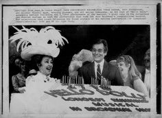 Ethel Merman at HELLO DOLLY Longest Running Show on Broadway Cake Cutting, 1970