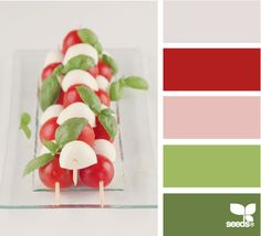 Color: Caprese Hues by Design Seeds - light grey, deep maroon, light pink, sage green, medium green.
