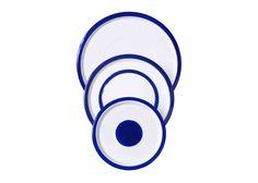 Variopinte: Blue & White Enamel Plate