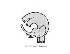 Rusty the Yoga Elephant