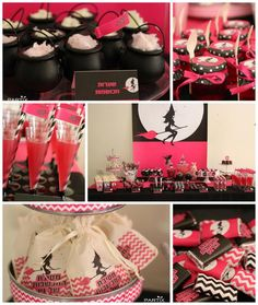 Witch Themed 9th Birthday Party with So Many Darling Ideas via Kara's Party Ideas | KarasPartyIdeas.com #WitchesNightOut #Halloween #PartyIdeas #PartySupplies #Witch