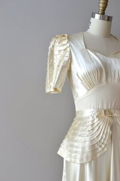 """1930s wedding dress / silk 30s wedding dress via Etsy."""