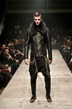 men styles, fashion weeks, tom rebl, men fur, men cloth, men fashion, leather jackets, mens runway, men leather
