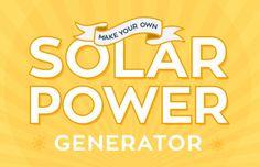 DIY, solar power, diy solar generator, photovoltaic system, rapid online, green design, sustainable design, clean energy, clean tech, renewable energy, solar system, make your own solar system