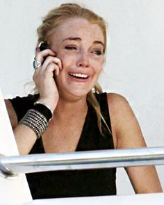 Celebrities Crying: Lindsay Lohan