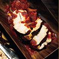 Achiote-Grilled Turkey Breast with Tomatoes, Chiles, and Mint